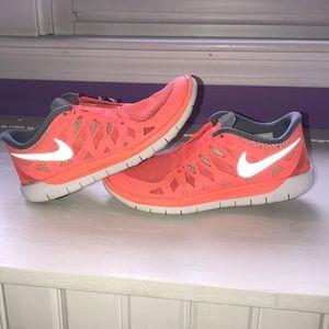 Orange neon sneakers